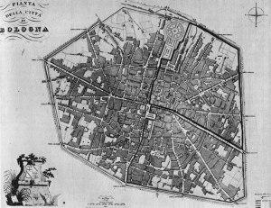 pianta Bologna 1848